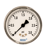 WIKA Type 611.10 Low Pressure Gauge 0-3 PSI 9851836