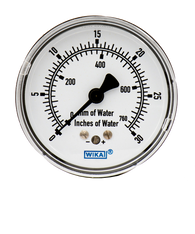 WIKA Type 611.10 Low Pressure Gauge 0-30 in H2O 9855785