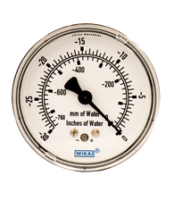 WIKA Type 611.10 Low Pressure Gauge 0-30 in H2O Vacuum 9851852