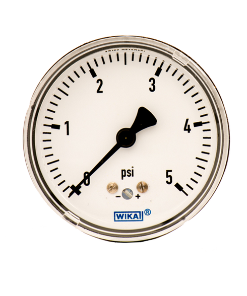 WIKA Type 611.10 Low Pressure Gauge 0-5 PSI 9851844