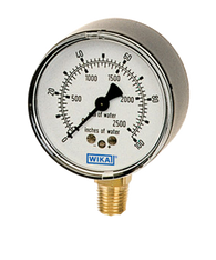 WIKA Type 611.10 Low Pressure Gauge 0-60 in H2O 9803432