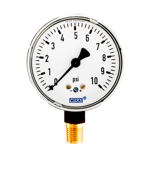 Wika Type 611 10 Low Pressure Gauge 0 10 Psi 4204212 Flw