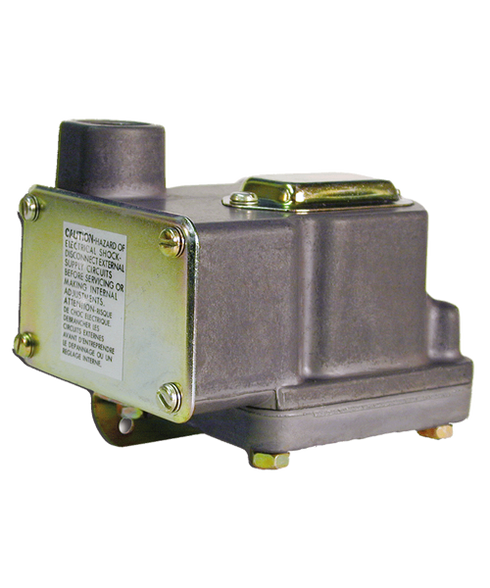 Barksdale Series D1T Diaphragm Pressure Switch, Housed, Single Setpoint, 0.5 to 80 PSI, D1T-H80SS-P2-CS