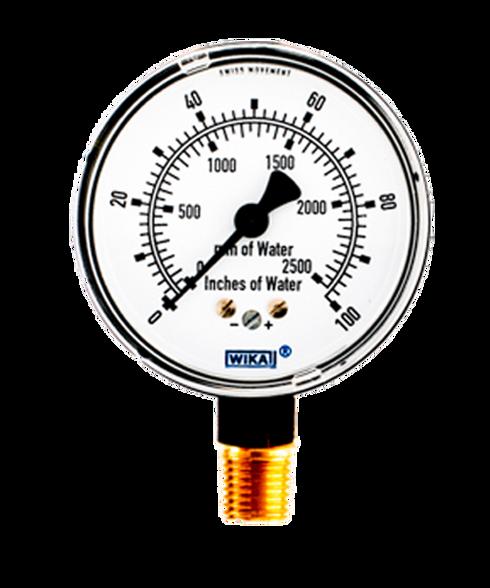 Pressure Gauge 0 to 40 In H2O