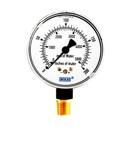 WIKA Type 611.10 Low Pressure Gauge 0-200IWP 9851828