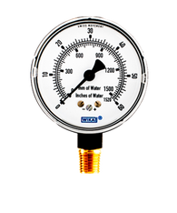 WIKA Type 611.10 Low Pressure Gauge 0-60 in H2O 9851704