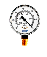 WIKA Type 611.10 Low Pressure Gauge 0-60 in H2O Vacuum 9748321