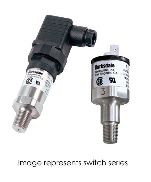 Barksdale Series 7000 Compact Pressure Switch, Single Setpoint, 20 to 200 PSI, 726B-23-1V