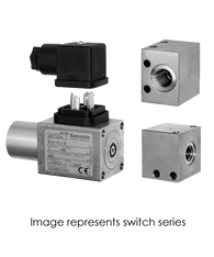 Barksdale Series 8000 Compact Pressure Switch, Single Setpoint, 43 to 2610 PSI, 8AD1-PL2-V-UL