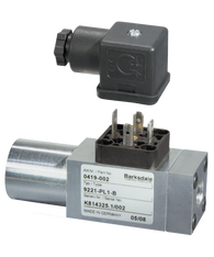 Barksdale Series 9000 Compact Pressure Switch, Single Setpoint, 90 to 725 PSI, 9AA1-PL1-B
