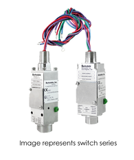 Barksdale Series 9681X Explosion Proof Compact Switch, Single Setpoint, 50 to 500 PSI, A9681X-2CC-4