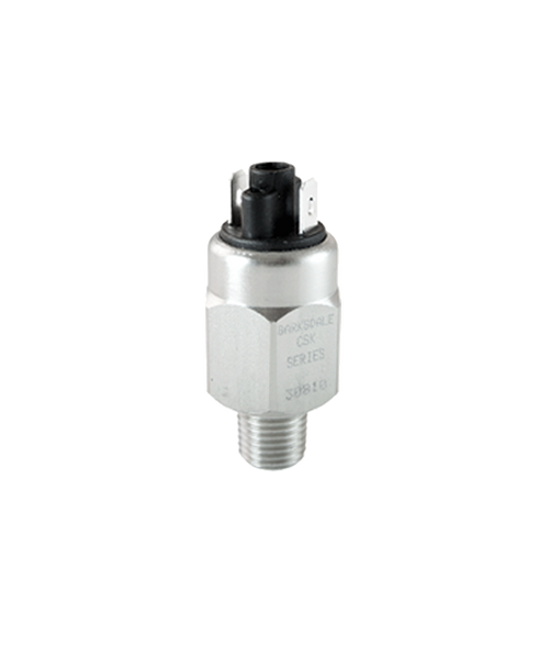 Barksdale Series CSK Compact Pressure Switch, Single Setpoint, 125 PSI Falling Factory Preset CSK2-21-12B-125F