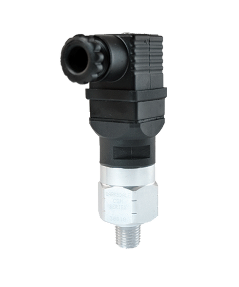 Barksdale Series CSM Compact Pressure Switch, Single Setpoint, 30 to 120 PSI, CSM14-33-32B