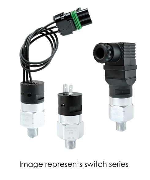 Barksdale Series CSM Compact Pressure Switch, Single Setpoint, 1000 to 3000 PSI, CSM17-23-14B