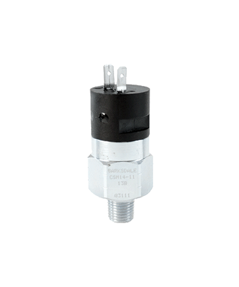 Barksdale Series CSM Compact Pressure Switch, Single Setpoint, 3000 PSI Rising Factory Preset CSM2-21-13B-3000R