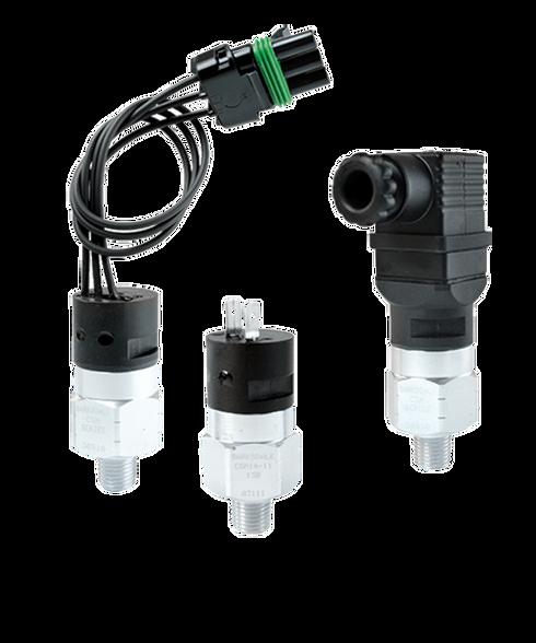 Barksdale Series CSM Compact Pressure Switch, Single Setpoint, 22 Bar Falling Factory Preset CSM2-31-45B-22BF