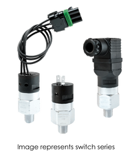 Barksdale Series CSM Compact Pressure Switch, Single Setpoint, 25 Bar Rising Factory Preset CSM2-31-55B-25BR