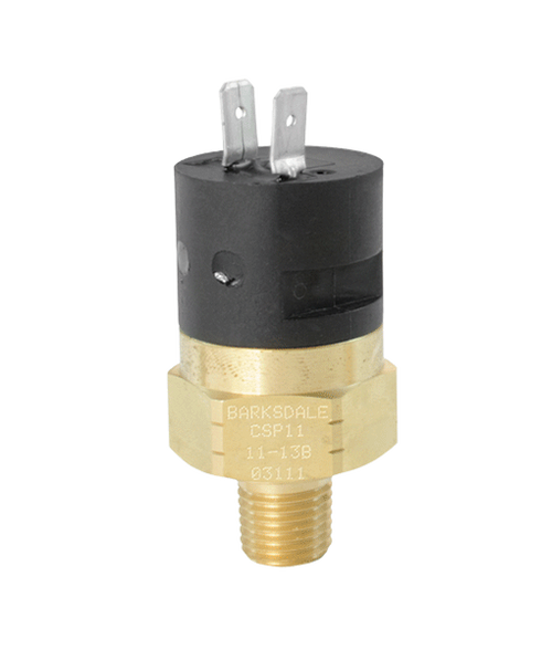 Barksdale Series CSP Compact Pressure Switch, Single Setpoint, 3 to 7 PSI, CSP11-23-13B