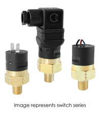 Barksdale Series CSP Compact Pressure Switch, Single Setpoint, 20 PSI Rising Factory Preset CSP2-13-14B-20R