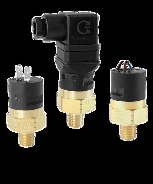 Barksdale Series CSP Compact Pressure Switch, Single Setpoint, 10 PSI Falling Factory Preset CSP2-32-35B-10F