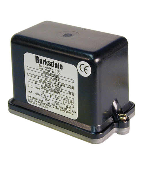 Barksdale Series MSPH Industrial Pressure Switch, Housed, Single Setpoint, 1.5 to 15 PSI, MSPH-FF15SS-E