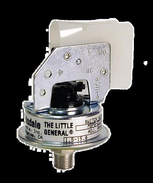 Barksdale Series MSPS Industrial Pressure Switch, Stripped, Single Setpoint, 1.5 to 15 PSI, MSPS-JJ15-PLS