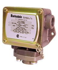 Barksdale Series P1H Dia-seal Piston Pressure Switch, Housed, Single Setpoint, 25 to 600 PSI, P1H-B600SS-T-P2