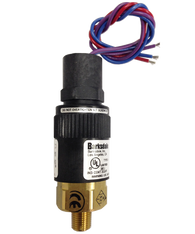 Barksdale Series 96201 Compact Pressure Switch, Single Setpoint, 2.5 to 15 PSI, T96211-BB1-T5-W240