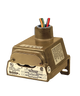 Barksdale Series CD1H Diaphragm Pressure Switch, Housed, Single Setpoint, 0.3 to 3 PSI, VCD1H-A3SS-P2-W50