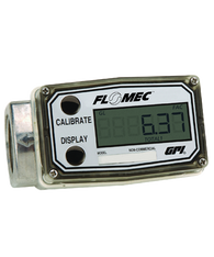 "GPI Flomec 1"" NPTF Low Flow Aluminum Turbine Meter With Local Display, 0.3 to 3 GPM, A109GMA025NA1"