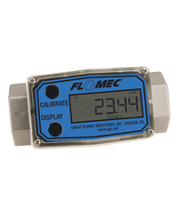"GPI Flomec 1 1/2"" NPTF Stainless Steel Turbine Meter With Local Display, 10 to 100 GPM, G2S15N09GMB"