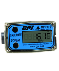 """GPI Flomec 1/2"""" PVC Spigot Water Meter With Local Display, 1 to 10 GPM, TM050"""