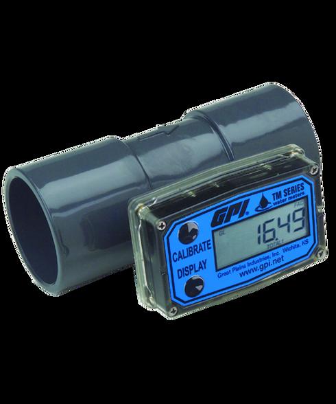 Turbine 2 FNPT Electronic Flowmeter PVC 20 to 200 gpm