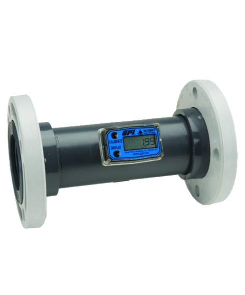 "GPI Flomec 3"" PVC Flange Water Meter With Local Display, 40 to 400 GPM, TM300-F"