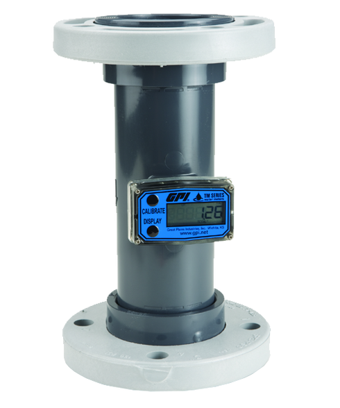 "GPI Flomec 4"" PVC Flange Water Meter With Local Display, 60 to 600 GPM, TM400-F"