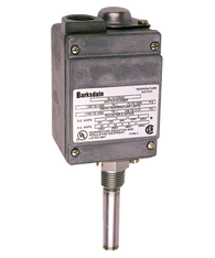 Barksdale ML1H Series Local Mount Temperature Switch, Single Setpoint, 100 F to 225 F, ML1H-G351S-W-RD