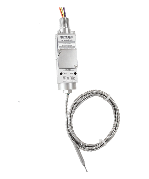 Barksdale T9692X Series Compact Explosion Proof Temperature Switch, 95 F to 220 F, T9692X-1GH-2-144-A
