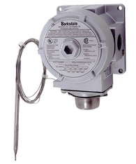 Barksdale TXR Series Explosion Proof Temperature Switch, Dual Setpoint, 25 F to 325 F, TXR-L2S-10R2-Q10