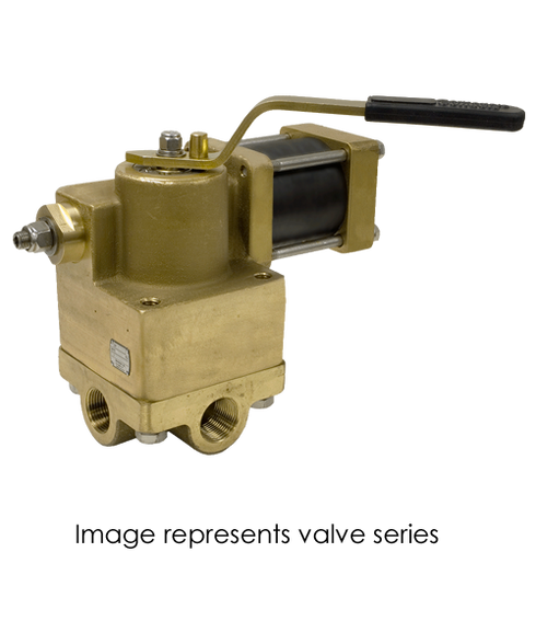 Barksdale Series 92 Actuated Heavy Duty Valve A921R3WQ3-MS-C