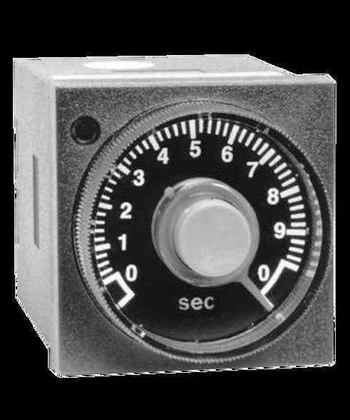 ATC 409B Series 1/16 DIN Adjustable Push Button Timer, 409B-100-F-2-X