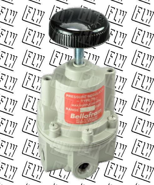 "Bellofram Type 70 BP High Flow Back Pressure Air Regulator, 1/2"" NPT, 0-2 PSI, 960-193-000"