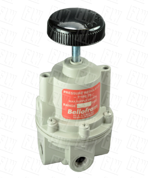 "Bellofram Type 70 BP High Flow Back Pressure Air Regulator, 3/8"" NPT, 0-10 PSI, 960-195-000"