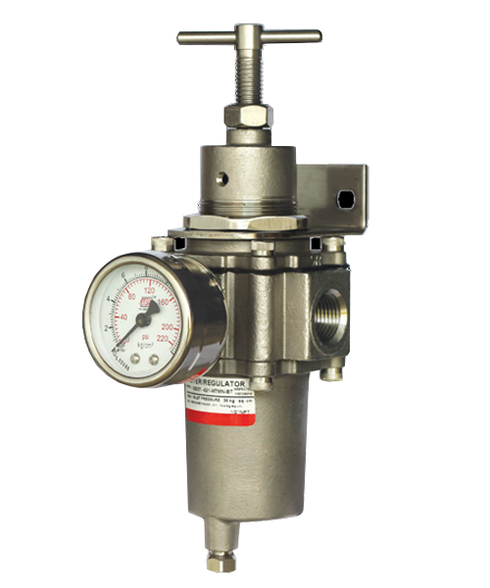 "Bellofram Type T-52SSAR Filter Regulator With Autodrain, 1/4"" NPT, 3-30 PSI, 960-600-000"