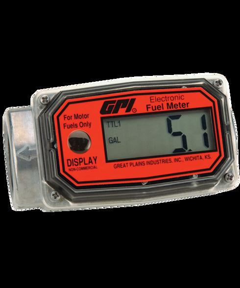 """GPI Flomec 1"""" BSPPF Aluminum Fuel Meter, 10-100 LPM, 01A52LM"""