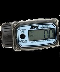 """GPI Flomec 1"""" NPTF Nylon Digital Water Meter, 10-100 LPM, 01N31LM"""