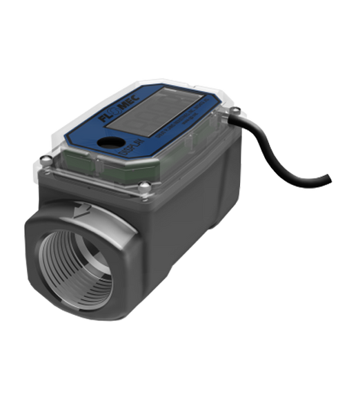 "GPI Flomec 1"" NPTF Aluminum Flow Meter, 3-30 GPM, 02-A-31-GM"