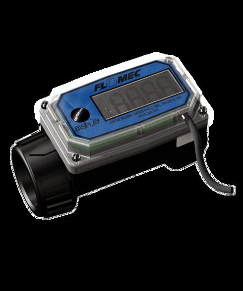 "GPI Flomec 1"" BSPTF Nylon Flow Meter, 3-30 GPM, 02-N-12-GM"