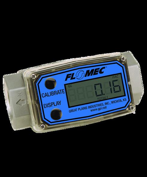 "GPI Flomec 1 1/2"" NPTF Aluminum Industrial Flow Meter, 10-100 GPM, G2A15N53GMC"