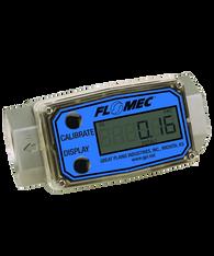 "GPI Flomec 1 1/2"" NPTF Aluminum Industrial Flow Meter, 10-100 GPM, G2A15N63GMC"