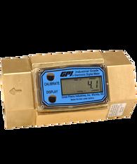 "GPI Flomec 1"" NPTF Brass Industrial Flow Meter, 5-50 GPM, G2B10N52GMC"